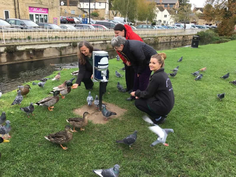 Burghley Vet duck food dispensers organised by Michelle Moggridge