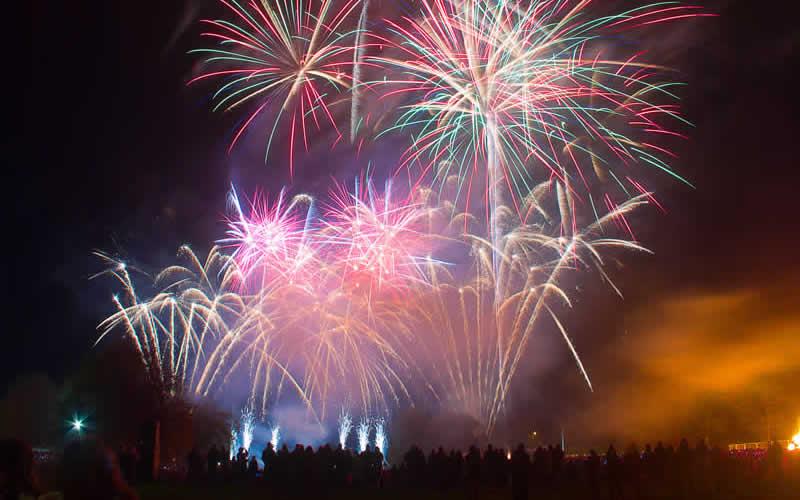 Fireworks at Burghley Vet